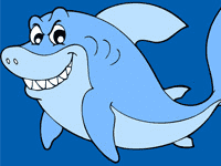 Раскраска Хитрая акула