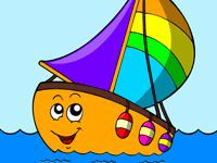 раскраска маленький кораблик