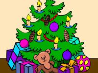 Раскраска Рождественская елка